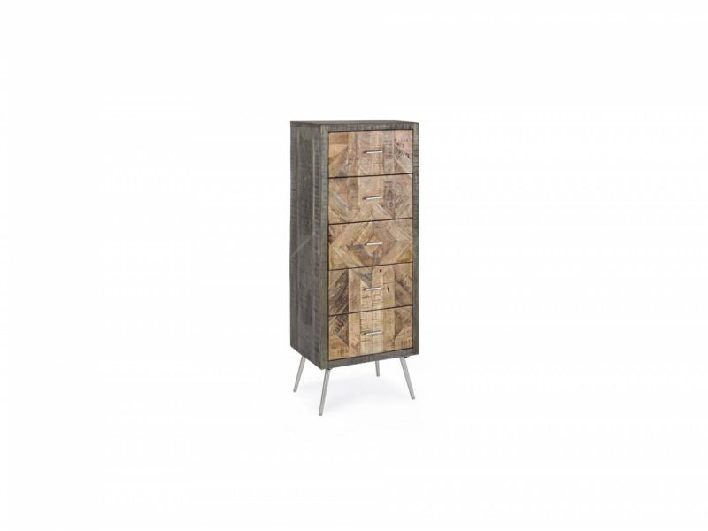 0745881-Chiffonnier Norwood-5 tiroirs-By-Azur-Mobilier