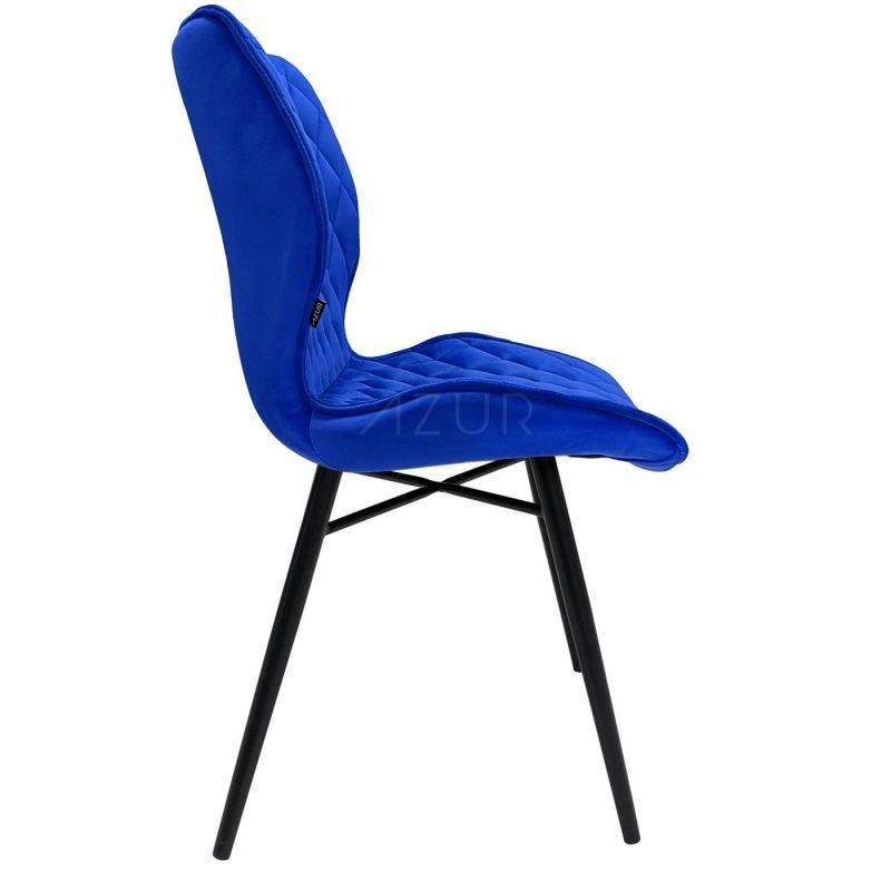 The-one-chaise-velours-bleu-celeste-electrique-pietement-metal-by-Azur-Mobilier (4)