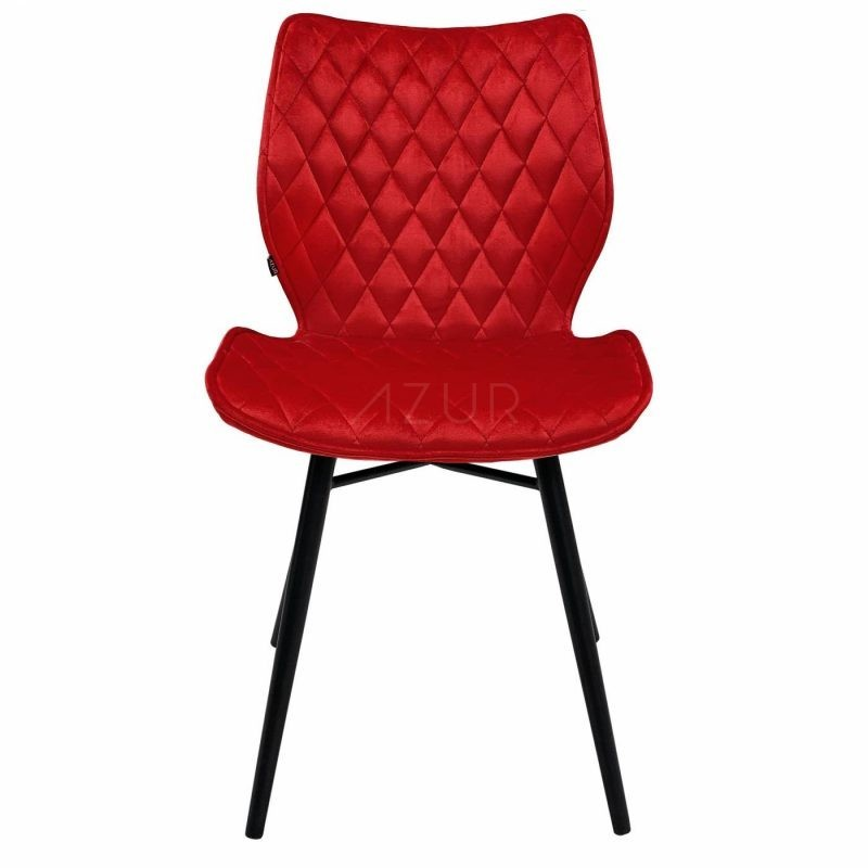 The-one-chaise-velours-rouge-pietement-metal-by-Azur-Mobilier (3)