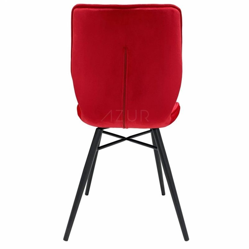 The-one-chaise-velours-rouge-pietement-metal-by-Azur-Mobilier (5)